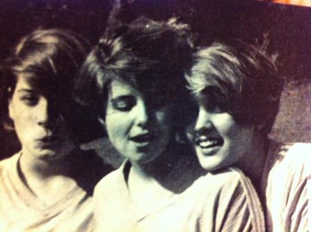 Sharyn, Kim, and Jenny - Orangewood Christian School - 1986