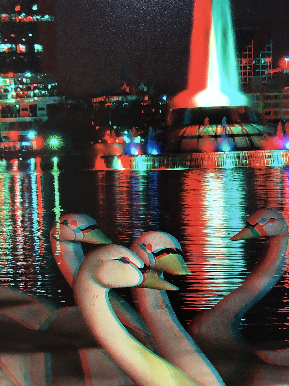 These swans don't bite. (Can I please just retitle this one?) Swan Boats Resting, 2010, Jim McManus