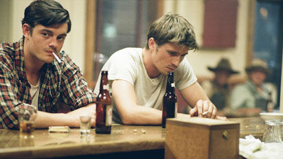 Paradise (left) and Moriarty as played by Sam Riley and Garrett Hedlund