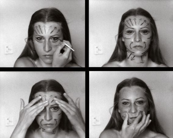 Stills from Sanja Ivekovic's Instructions No 1 (1976)