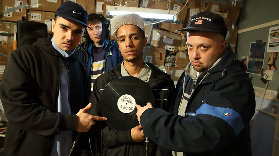 Some of the cast from People Just Do Nothing, a mockumentary series about pirate radio station Kurupt FM. The BBC Three hit started life on YouTube in 2010, before coming to the attention of The Office producer Ash Atalla, who helped to get the show commissioned