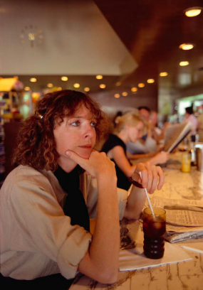 Diane Keaton plus Coke at Schwab's in the Seventies. Angela Lansbur a few decades earlier (left)