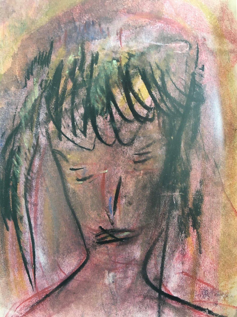 jack-kerouac-painting-oil-pastel-paper