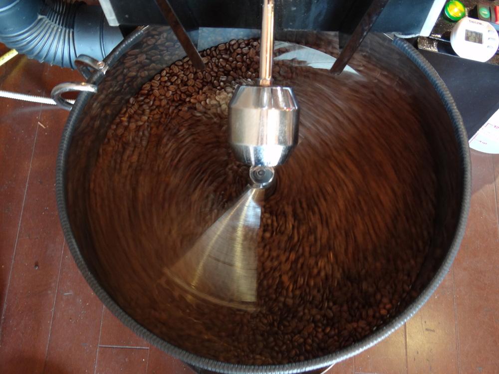 Freshly roasted coffee created at Roast.
