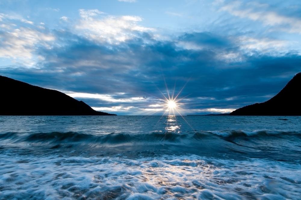 Západ slunce v Ajaja Bay