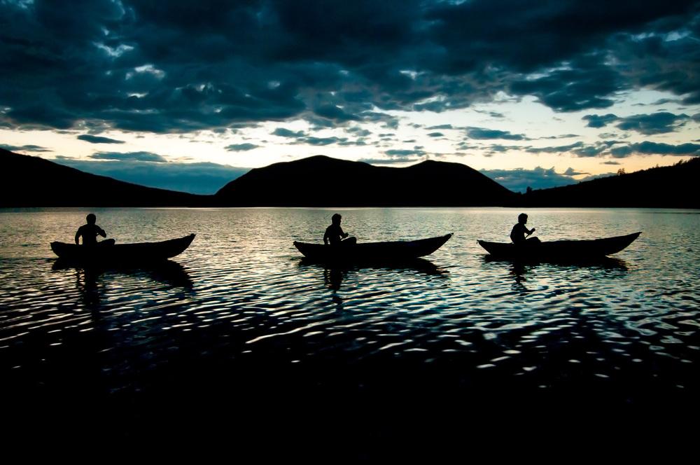 Džordž na jezeře Frolicha