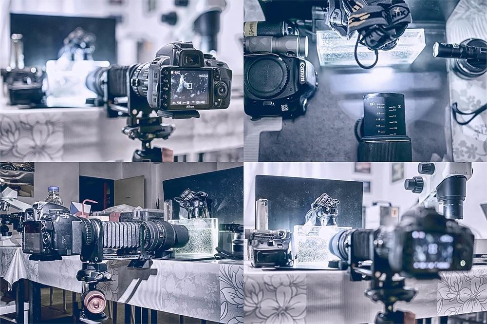 21. května 2013   Backstage snímek dnešního kolektivního filmování zooplanktonu. Díky Martinovi Černému jsem dnes poprvé zahrnul o workflow vybavení o firmy Canon. Jejich 650D je totiž perfektní držák pod baterku