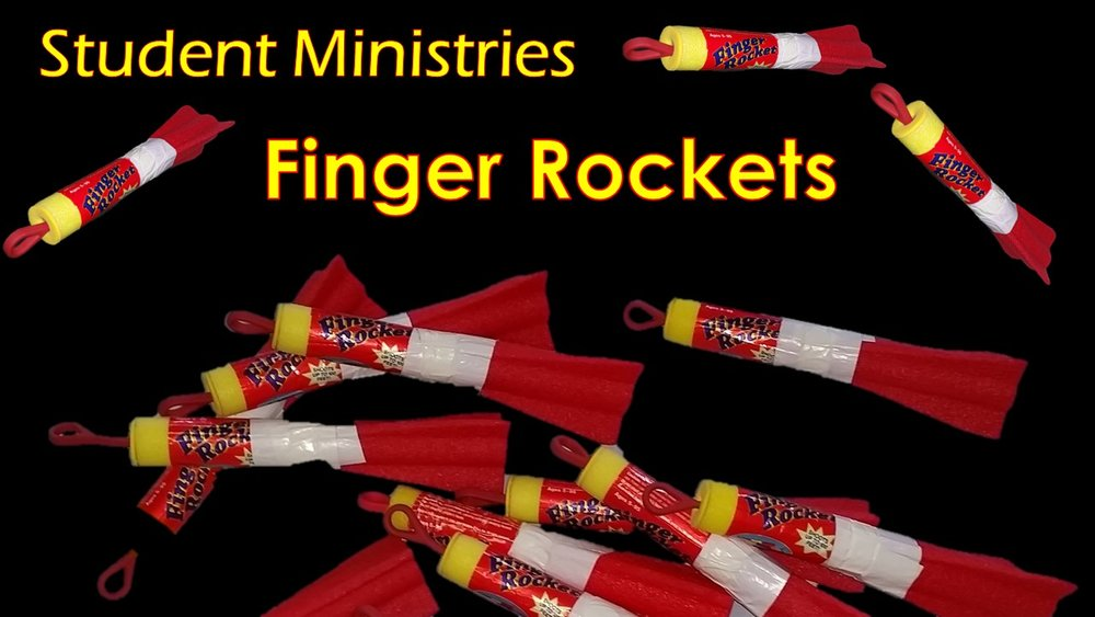 Friday October 17 - 7:00 pm at the churchFinger Rocket Craziness! Grades 7 and up welcome!