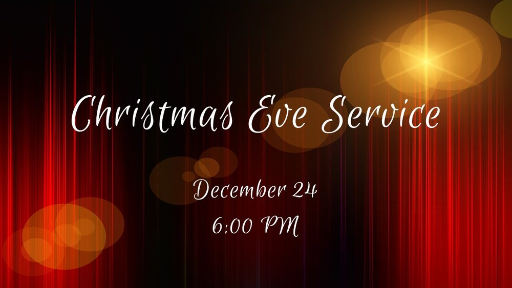 Come celebrate the season with us on Monday December 24 at 6:00 pm. A service of music and word celebrating the birth of Jesus our Saviour