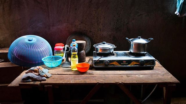 The kitchen at our guest house in Banlung Cambodia.  #JSphoto #Adventure #Discover #Explore #Cambodia #motorbiketrip #Banlung #NatGeo #backpacker #color #kitchen #photography #Nikon #nikon1j5 #followme #travel