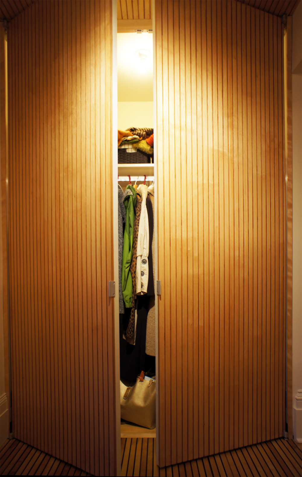 Floor-to-ceiling closet.