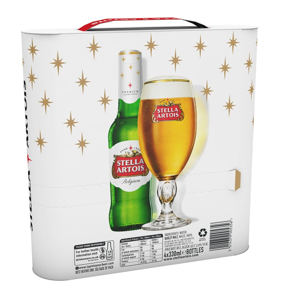 The Stella Artois 4 pack was  piloted in the UK  for the 2017 holiday season to great success.