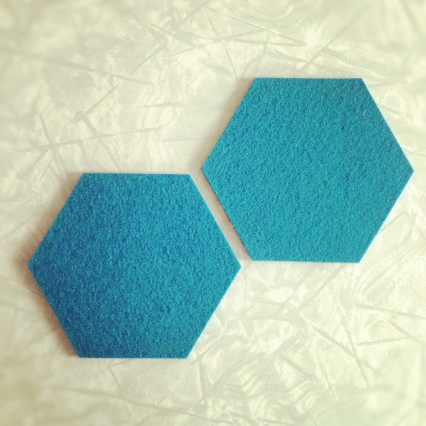 Laser cut felt coasters sold at Pax Modern.