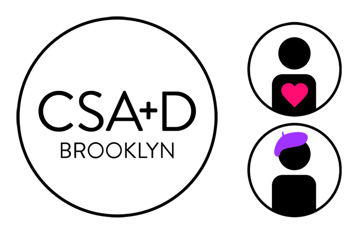 Logo and icons created for the CSA+D Brooklyn fundraising campaign video.