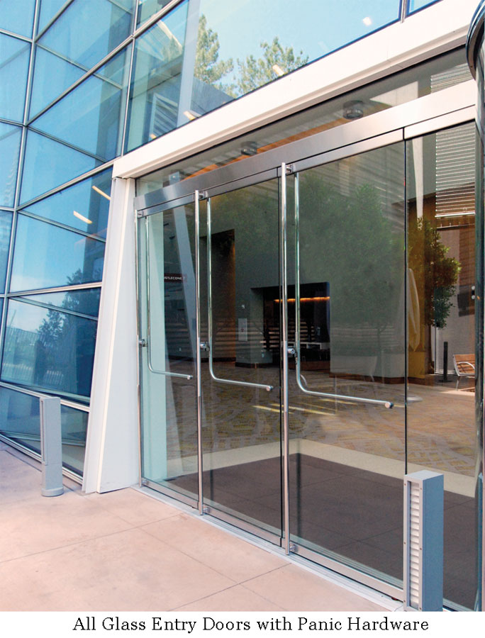 All Glass Entry Doors With Panic Hardware
