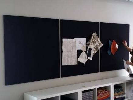 Custom made magnetic bulletin boards.