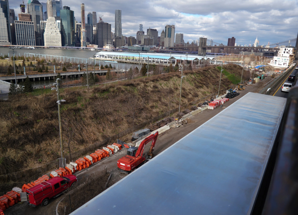 A view of Manhattan from the promenade in Brooklyn. Plans by New York City to rebuild a portion of the Brooklyn-Queens Expressway would require temporarily closing the promenade, which sits on top of the highway. CreditCreditChang W. Lee/The New York Times