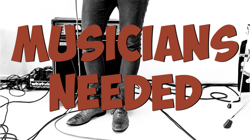 The musical worship leaders at Redemption Church are looking for musicians to serve with us. A number of our long time musicians are taking a well-deserved rest so we need to fill some spots. Are you sitting in the chairs longing to be on stage to use your hidden gifts? Or...is the Lord nudging you to be brave, step out and share your gifts with us? If you are a drummer, electric guitarist, or bass player….WE NEED YOU! Please send an email to  music@redemptionchurch.ca  and let's chat! Thanks!