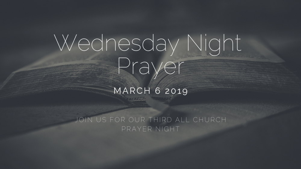 Wednesday Night Prayer Redemption Church
