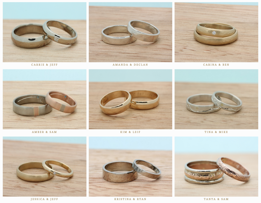stephanie offers you the opportunity to make your own wedding bands through guided instruction in her private with these rings workshop - Make Your Own Wedding Ring
