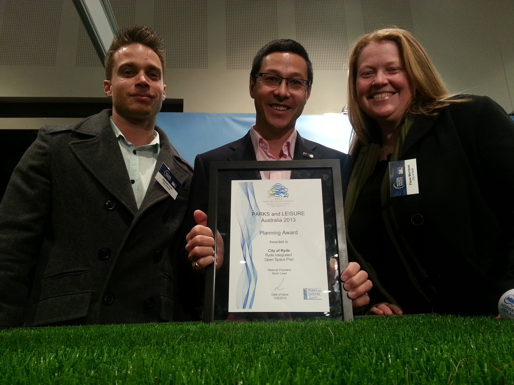 Craig with CoR Open Space Staff celebrating their award at the National Playground Awards May 2013