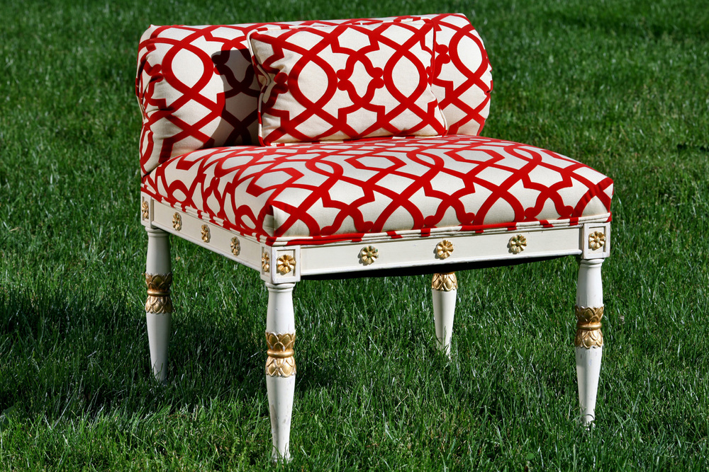 Unique Ottoman for the Menton Collection