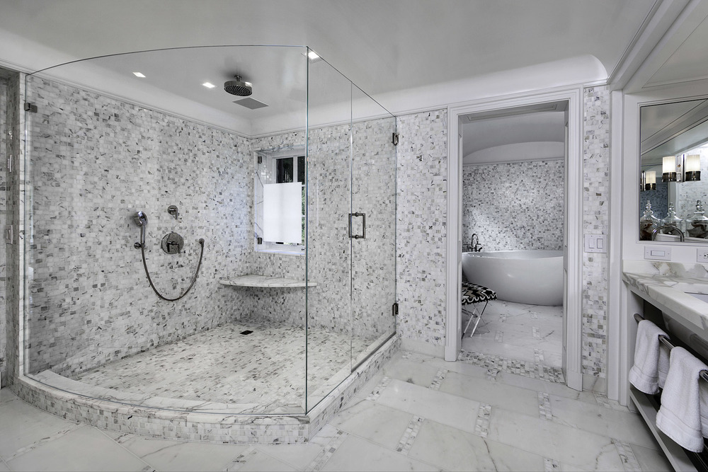 High End Master Bathroom Barry A Hyman Photography