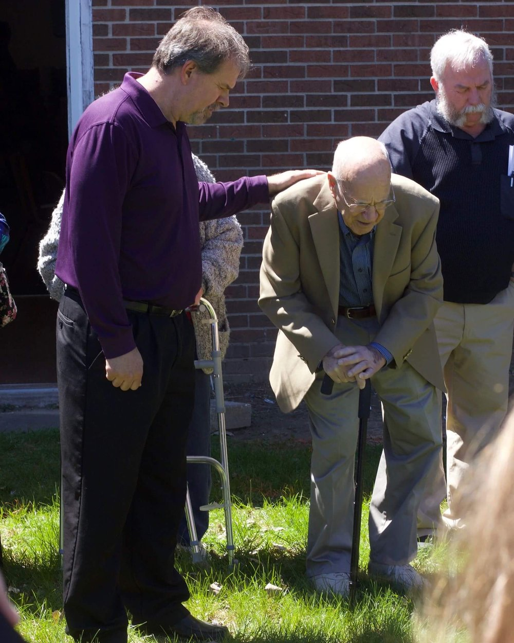 Walt Praying Over Addition.JPG