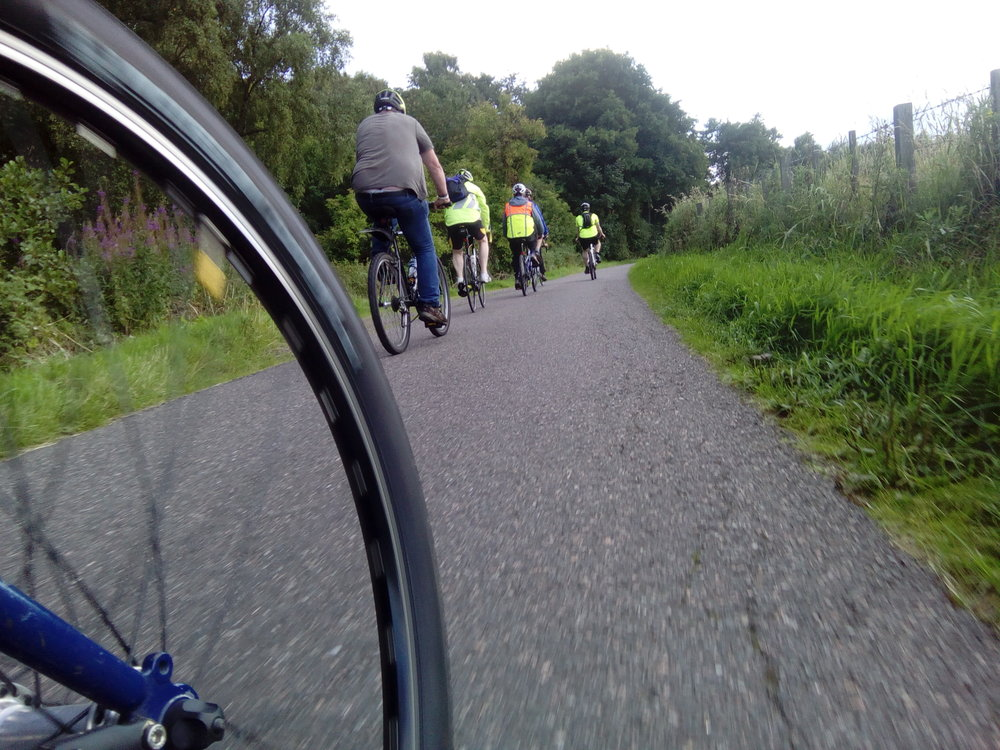 Velocity's Sunday Social Cycle - is an inclusive relaxed sociable cycle with no-one left behind. We go out every Sunday for a friendly ride with a tea break along the way.