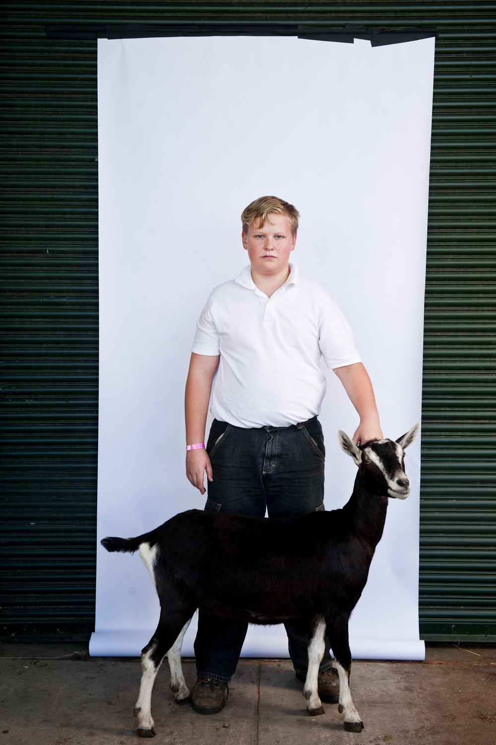 Joshua Seitter, 12, and Whiskey Lullaby stand for a portrait at the North Carolina State Fair on October 25, 2013.