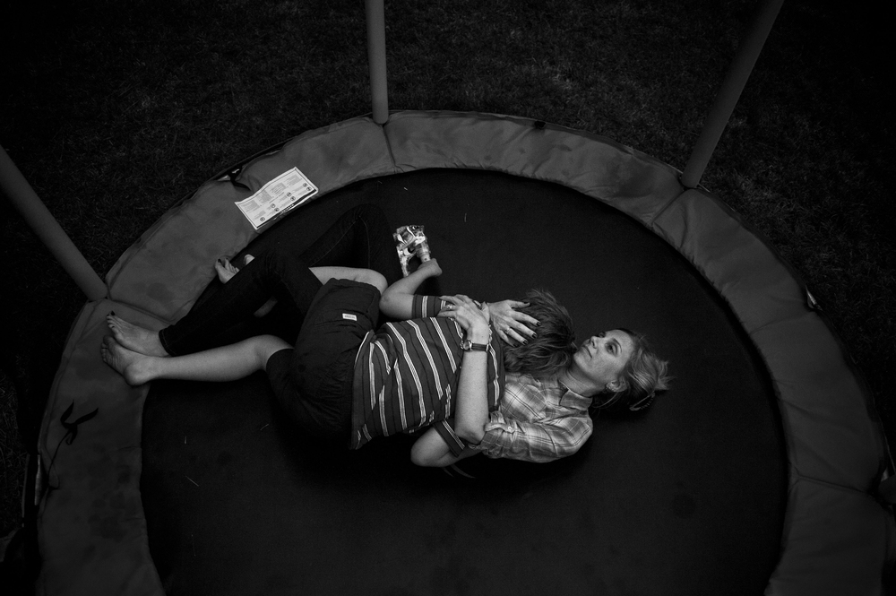"Erin O'Loughlin embraces her son Brendan O'Loughlin after his brother Marcus O'Loughlin, who has autism, attacked him while they were playing on the trampoline outside the family's home in Cary, NC on October 6, 2014.  As Marcus has aged, the frustrations that result from his autism have turned him violent towards his family.  Shortly after this incident Erin and her husband Colm O'Loughlin decided to permanently move Marcus, at age 11, to an assisted living facility for their other children's safety as well as their own.  ""We know in our hearts that Marcus is going to need assistance for the rest of his life,"" Erin said. ""As far as Marcus living a regular normal life with everybody else in the world, that might not be right for him and he might not be happy with that, so why should I push that on him?  We just want Marcus to be happy.  We want him to reach his full potential, whatever that might be."""