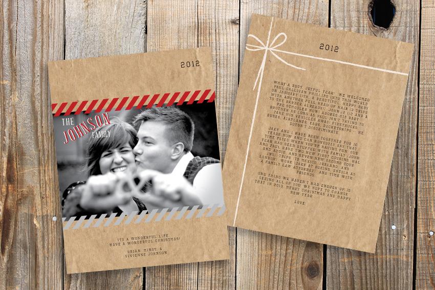 12 Days Of Christmas Cards Six Plaid Poppy Co Minneapolis
