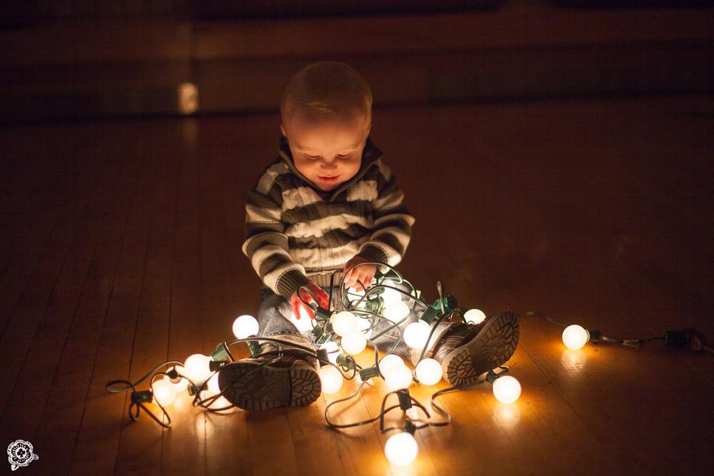 Baby Christmas Photos Lights