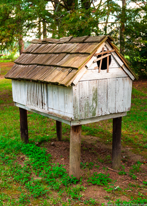 Hen house on the grounds of the Rural Life Museum, Baton Rouge, LA.