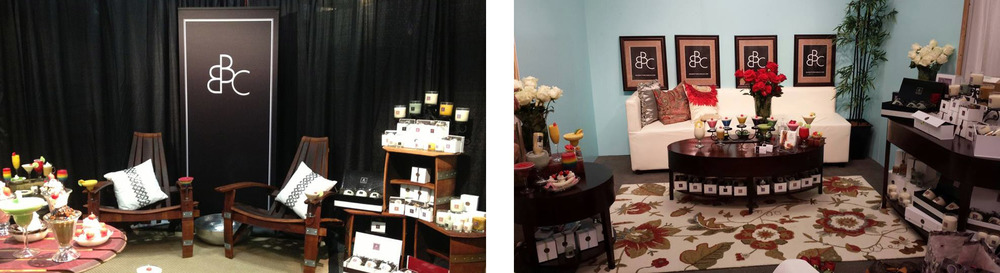 "Pics from the new trade shows and signage. Facebook fans commented on liking the ""classy new look."""