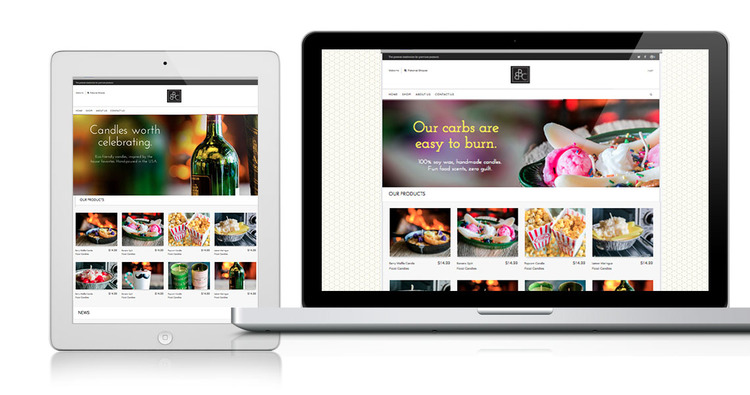 The new web site featured product photography prominently and made products the focus of the site, and had integrated e-commerce for shopping directly off the site. *Note: The web site is now under different creative direction.