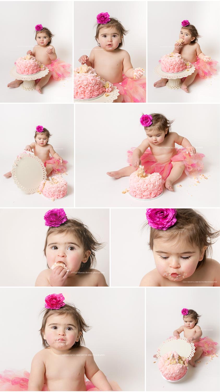 Massachusetts Baby Photographer Worcester, MA Cake Smash Photographer First Birthday Photographer