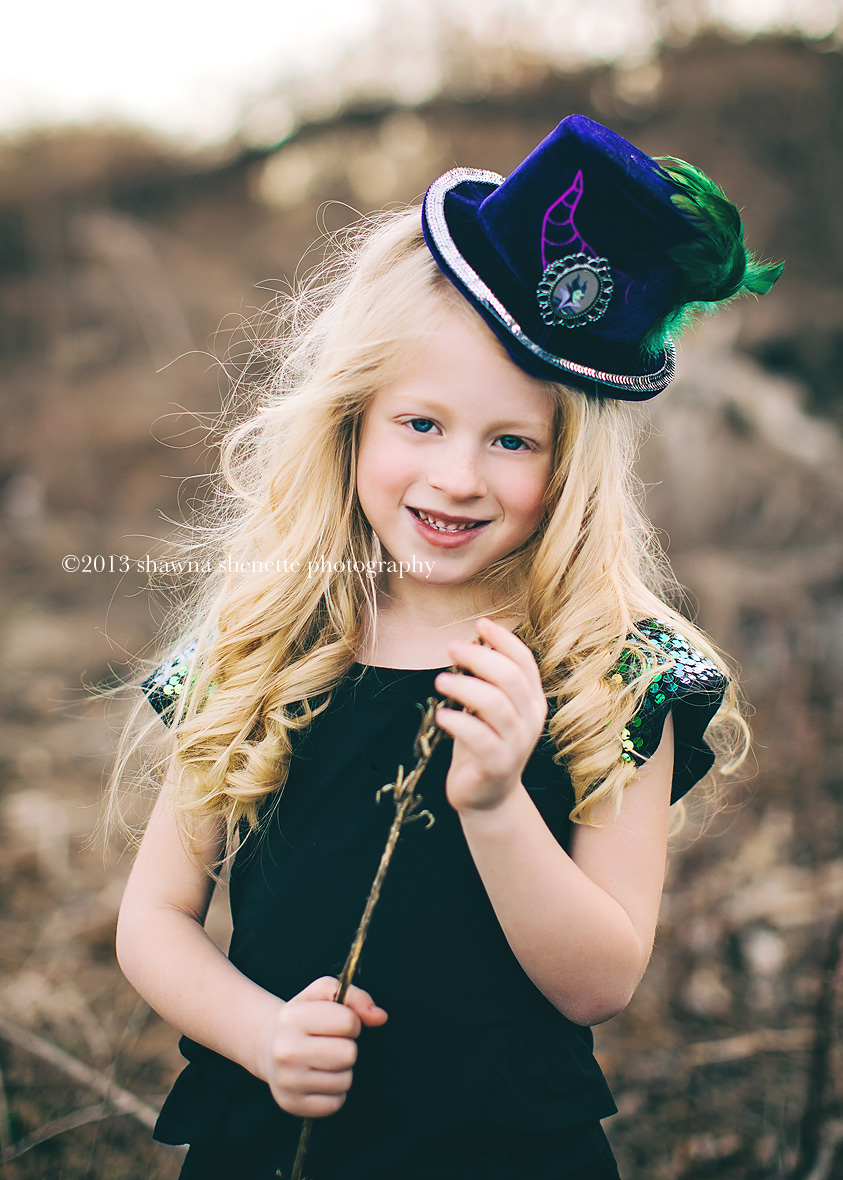 Massachusetts Child Photographer Auburn Worcester Millbury Girl Styled Outdoor Shoot Hat