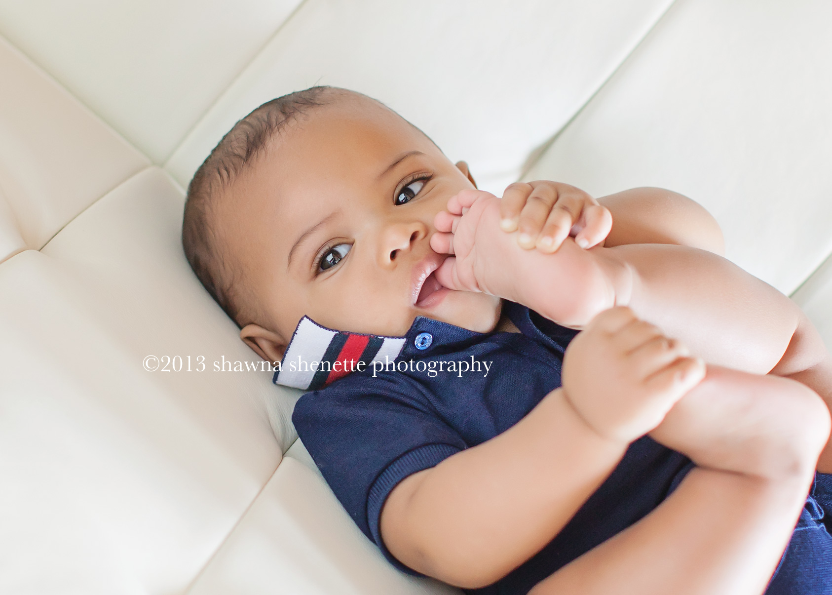 Central Massachusetts Baby Photographer 6 Months Old Studio Baby Sessions