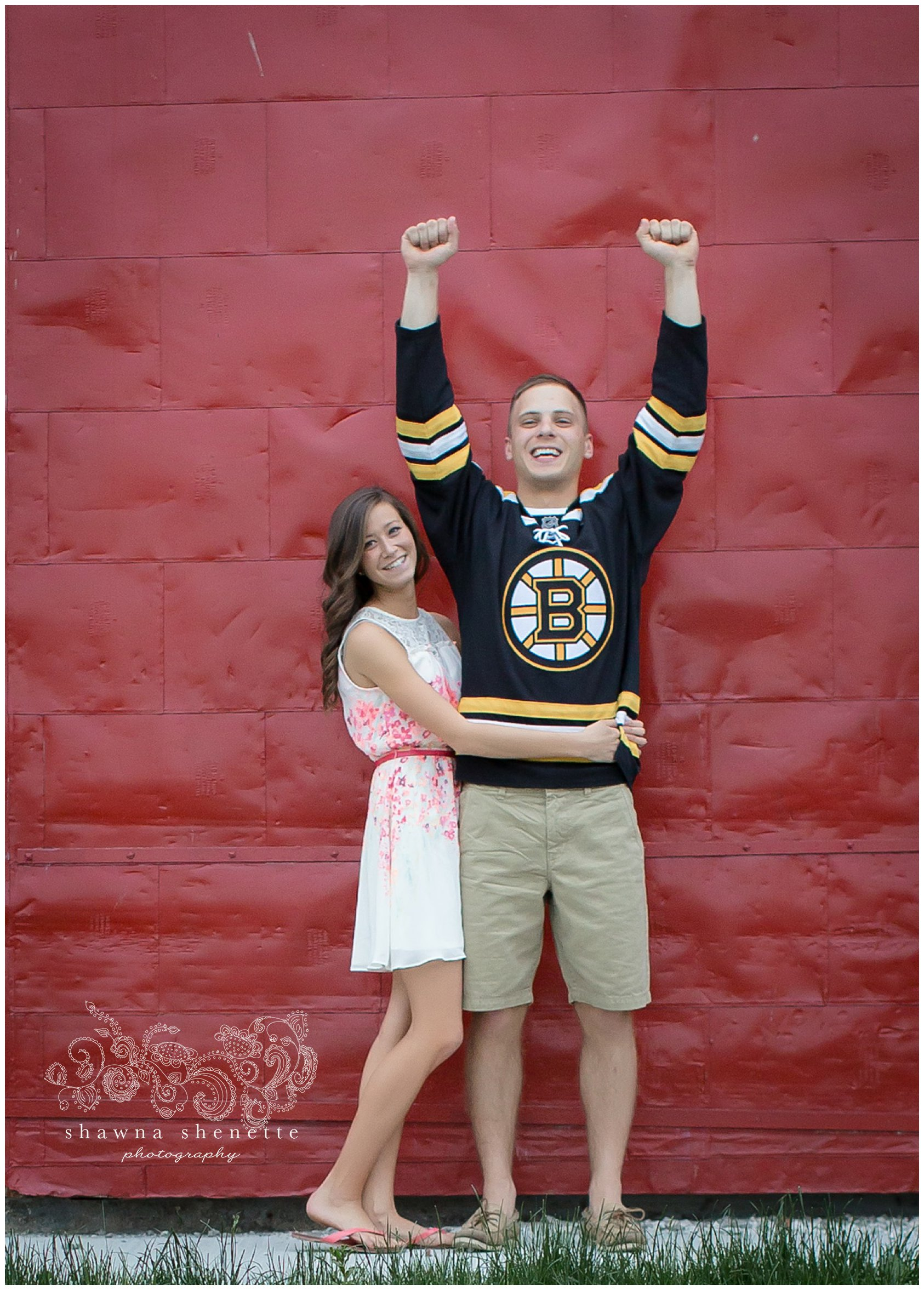 Boston Bruins Engagement Photos Millbury MA Wedding Photographer Wachusett Mountain Wedding