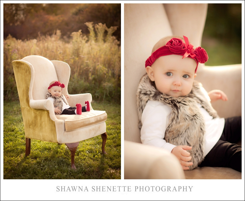 Massachusetts Photographer Baby Girl Outdoor Chair 9 Month Old Portraits