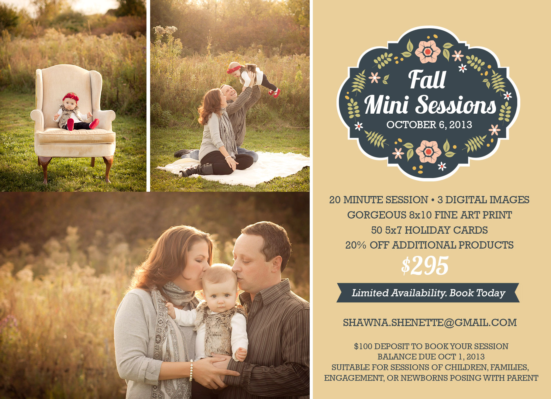 Central MA, Worcester Millbury Massachusetts 2013 Outdoor Fall Mini Photo Sessions