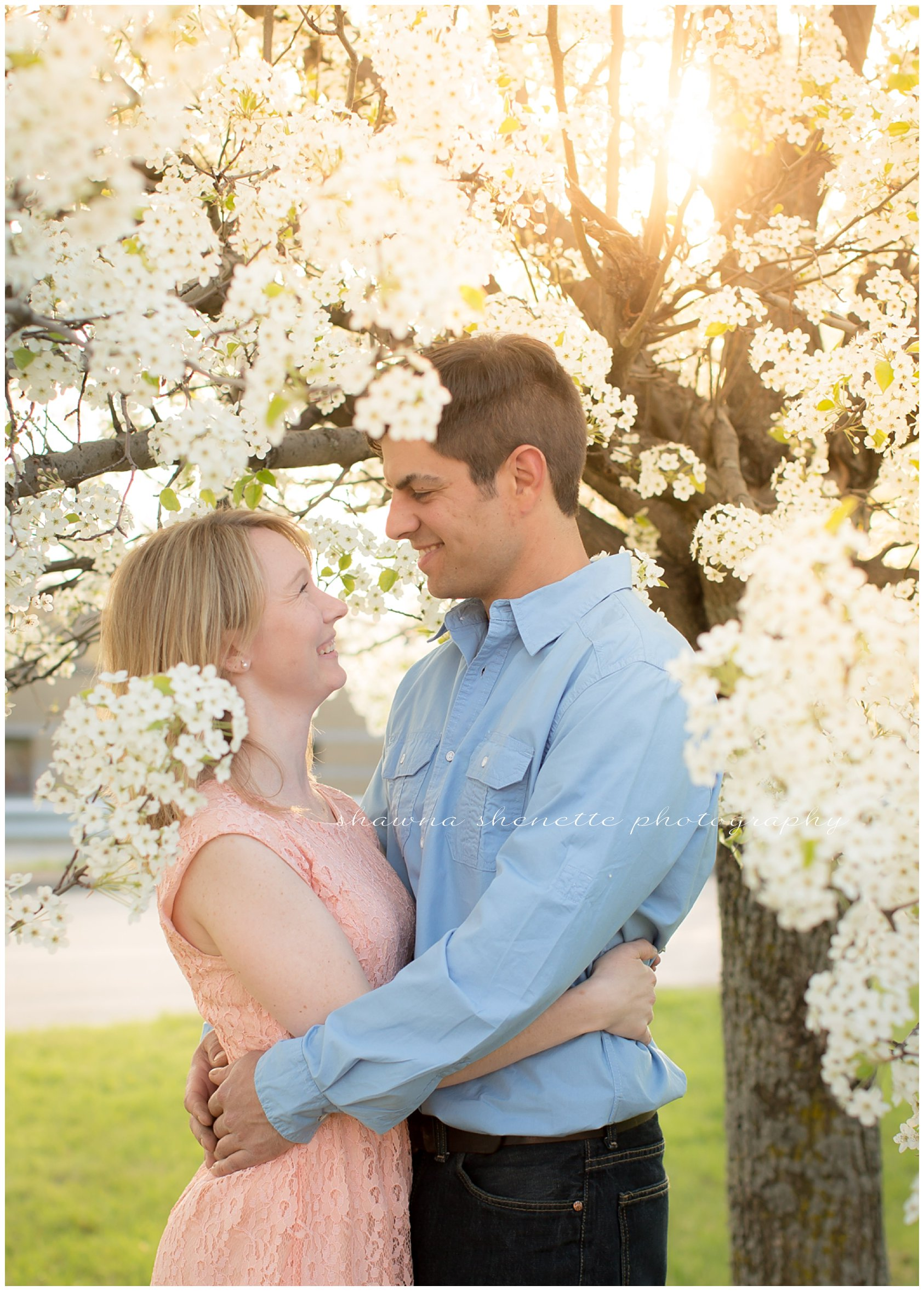 Outdoor Massachusetts Engagement Photos Backlighting Example