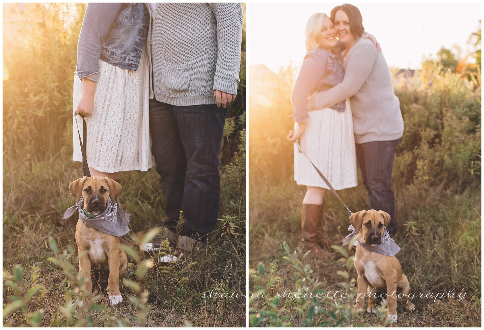 Worcester MA Photographer Outdoor Engagement Photos Dog Couple Lesbian Wedding_412