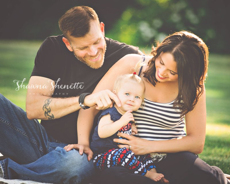 Boston Family Photographer Family Portrait with Baby Girl