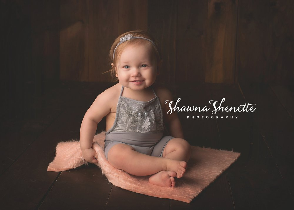 Millbury MA Photographer Massachusetts One Year Old Baby Girl Cake Smash Worcester Pink Balloons Pink Boston Metrowest Baby Photos