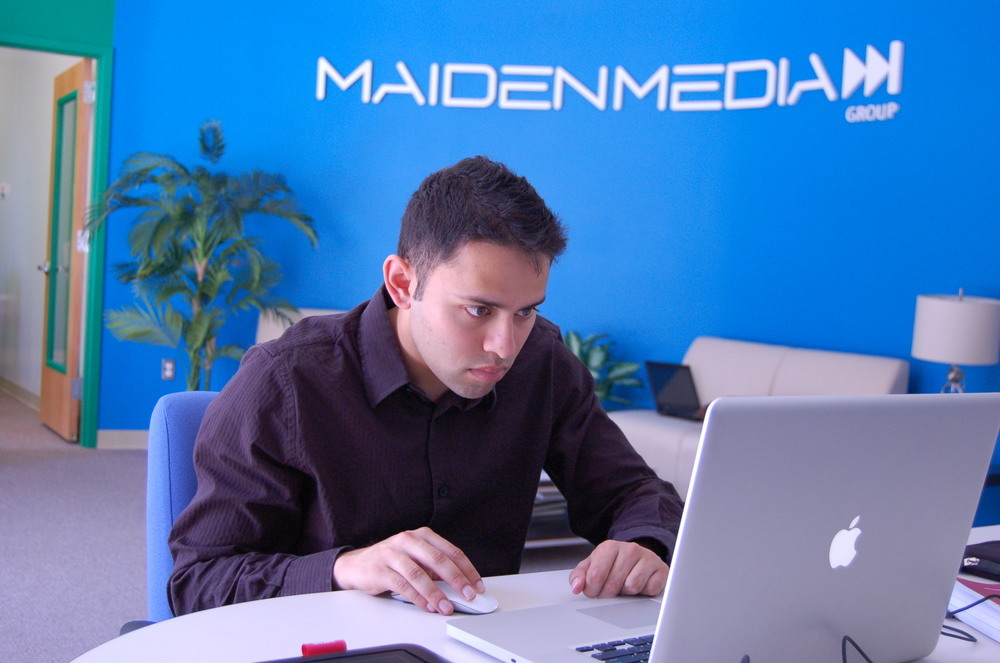 Me working at the old Maiden Media Group office. Going to miss that place!