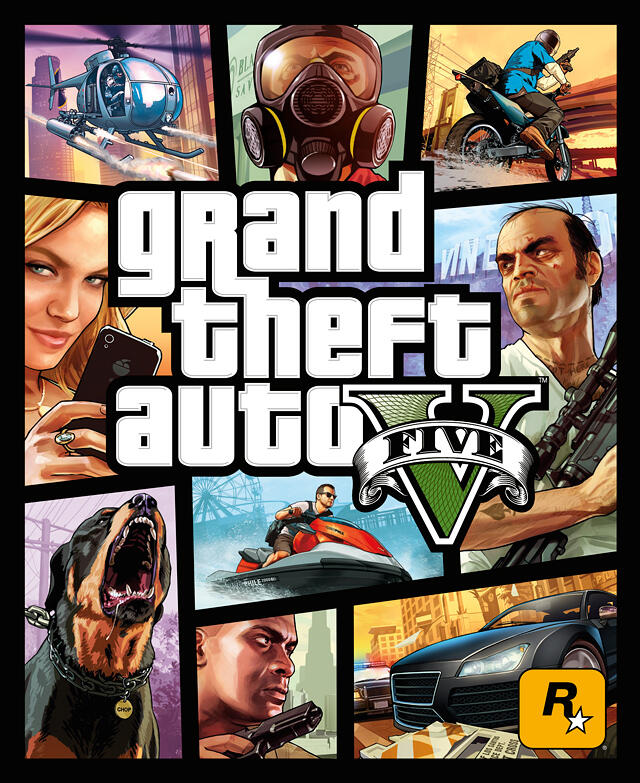 Official Grand Theft Auto V Box Art Revealed      Posted by:  Marcus   Lawrence       So here you are folks…this is what your copy of GTA V will look like. The cover maintains the Grand Theft Auto style while introducing the new elements exclusive to GTA V.   I doubt there will be any outcry regarding the box art but we want to know what you think regardless.   What do you folks think about the new box art?