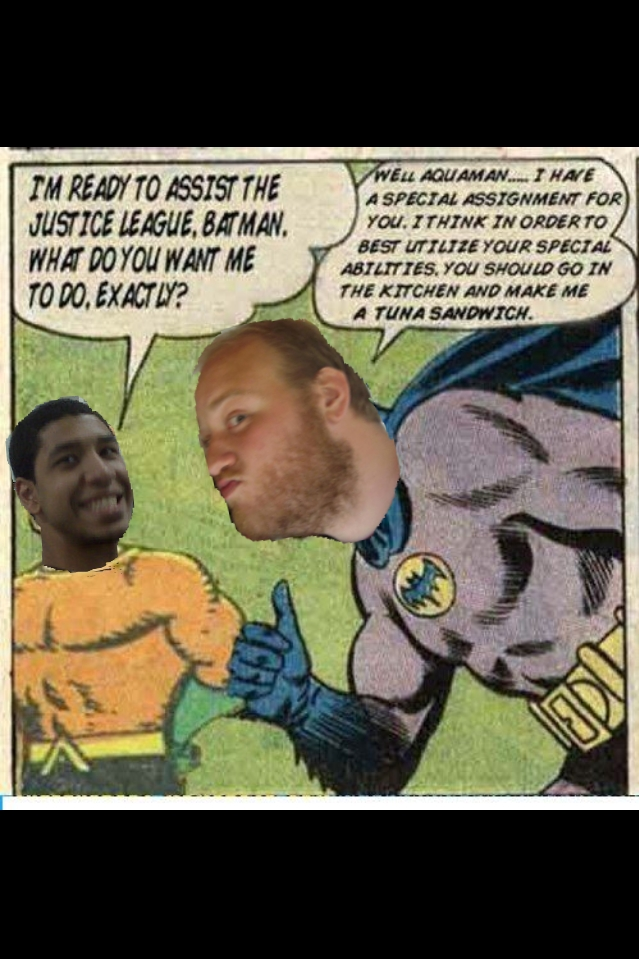 In some ways, Galactic Gaming News is like the Justice League. We try to do what we can and hope for the best. On other days, there is no news so Eric (Batman) has Marcus (Aquaman) do some other work. Thanks to our newest member of GGN, Samer Farag, for making this picture happen.