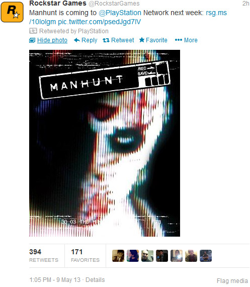 Manhunt has returned from the grave